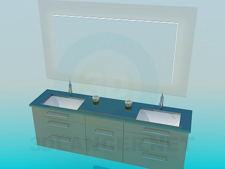 modelo 3D Conjunto de dos cuencas - escuchar