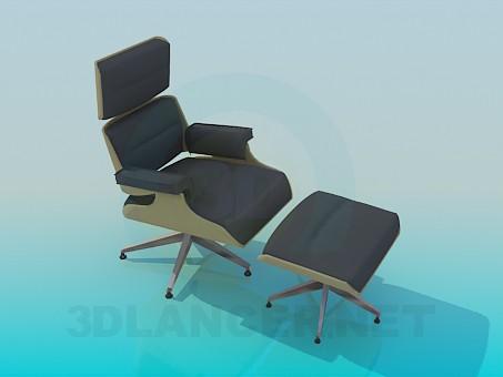 3d моделирование Кресло и табурет модель скачать бесплатно