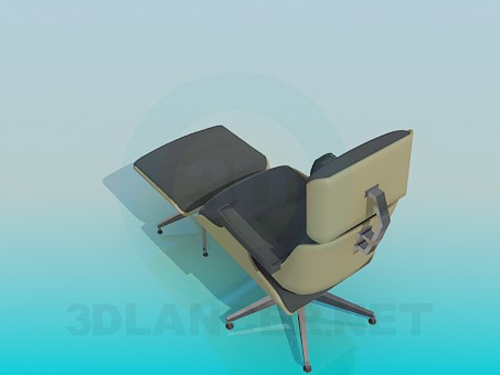 3d model Chair and stool - preview