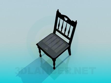 3d model Antique chair - preview