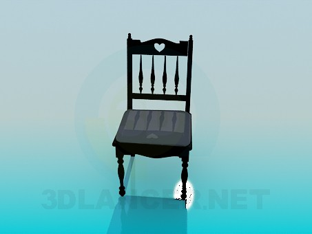 3d модель Старинный стул – превью