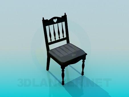 3d модель Старовинний стілець – превью