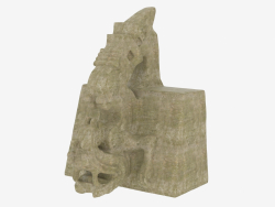 Scultura azteca in pietra Xiuhcoatl il serpente fuoco