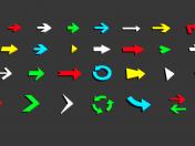 Flèches 3D - Low poly