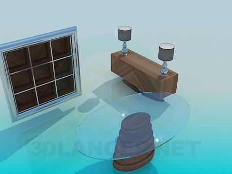3d modeling Furniture for living room model free download