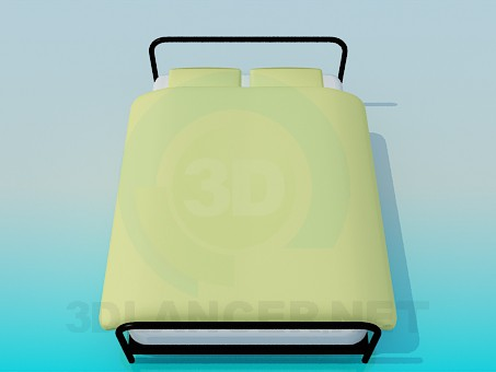 3d modeling Metal bed model free download