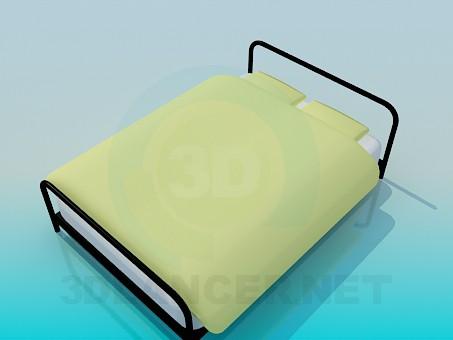 3d model Metal bed - preview