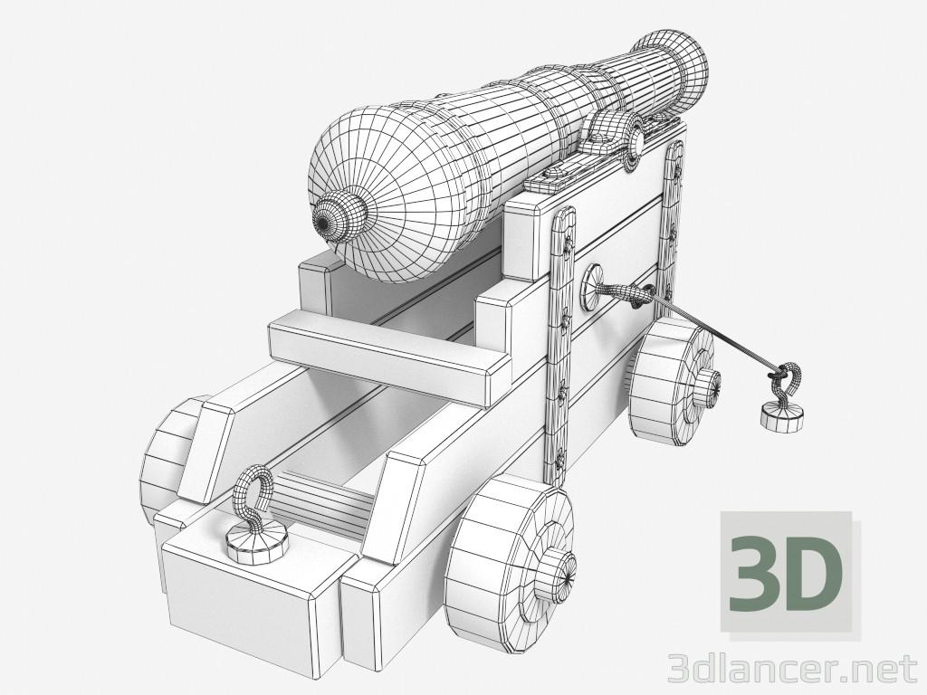 3d The old naval gun model buy - render