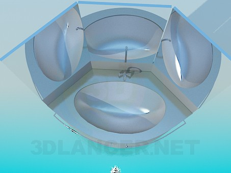 3d model Washbasin with mirror - preview