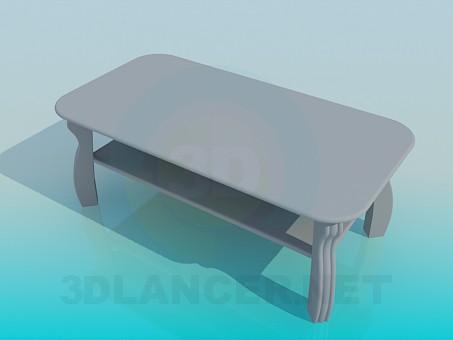 3d model Mesa de centro con un estante - vista previa