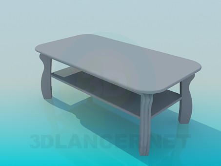3d model Coffee table with a shelf - preview