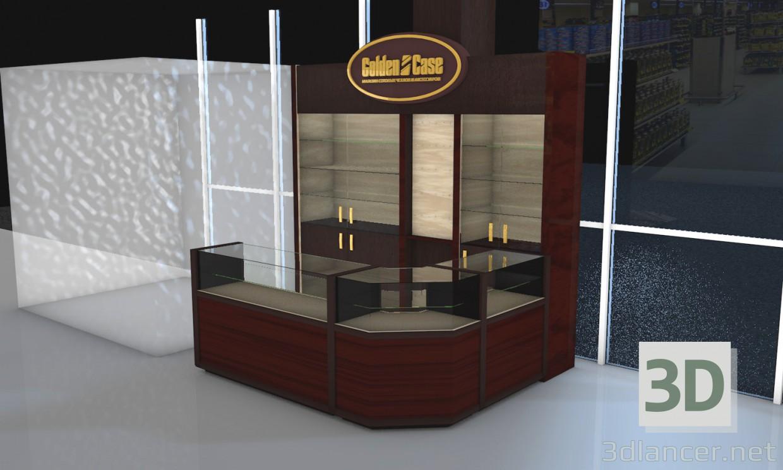 3D modeli butique - önizleme