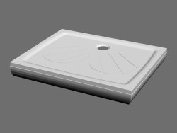 Shower tray 80 x 100 PRO-GIGANT SET-L