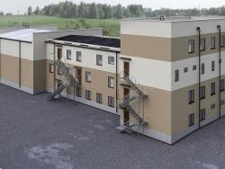 Edifício multifuncional (bloco médico). n. rascunho