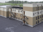 Multifunctional building (medical block). n. project
