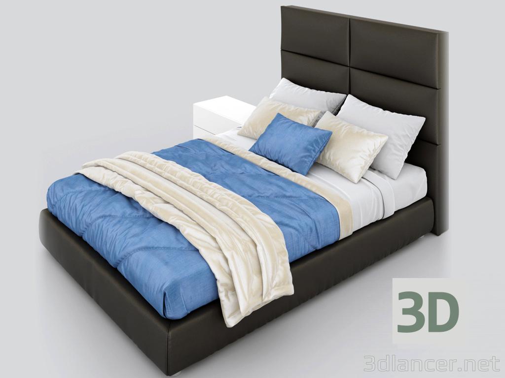 "3d Bed ""Riga"" model buy - render"