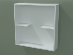 Caja abierta con estantes (90U31001, Glacier White C01, L 48, P 12, H 48 cm)