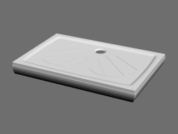 Shower tray GIGANT PRO-SET-80 x 120 L