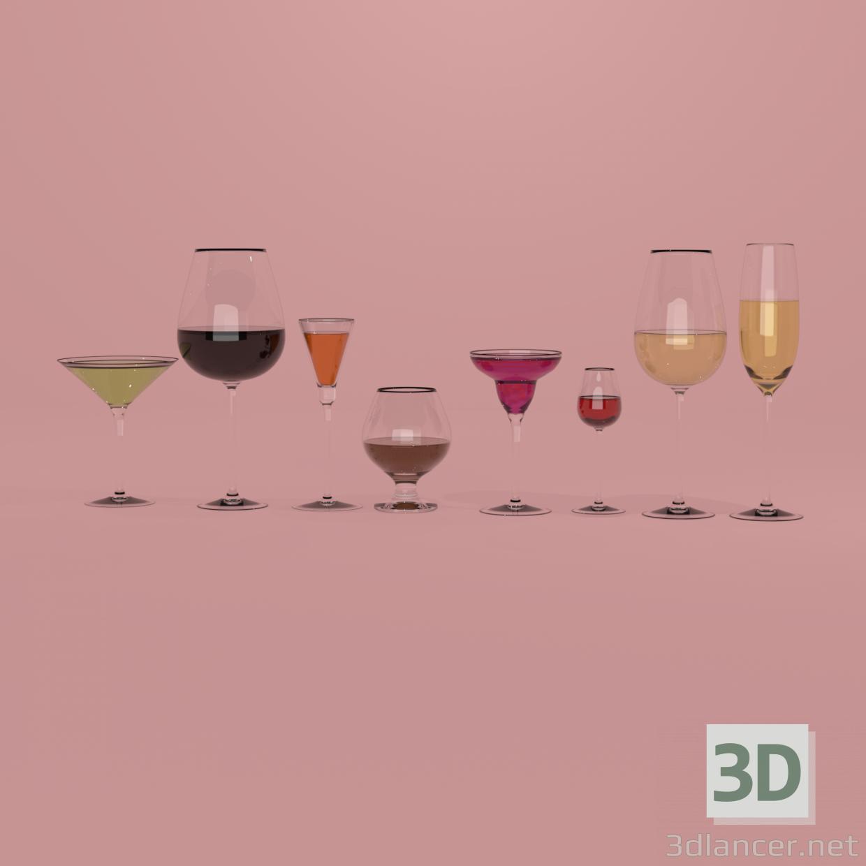3 डी विभिन्न प्रकार के चश्मे मॉडल खरीद - रेंडर