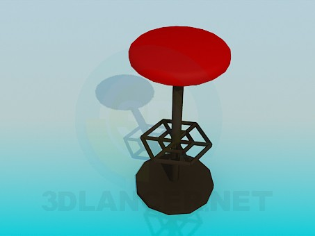 3d model High stool with foot stand - preview