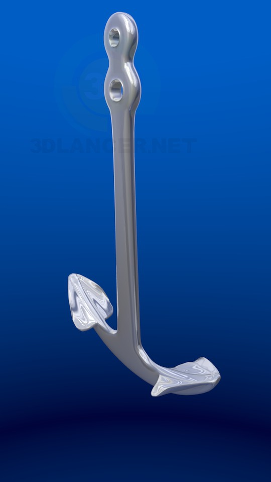 3d model Admiralty anchor - preview