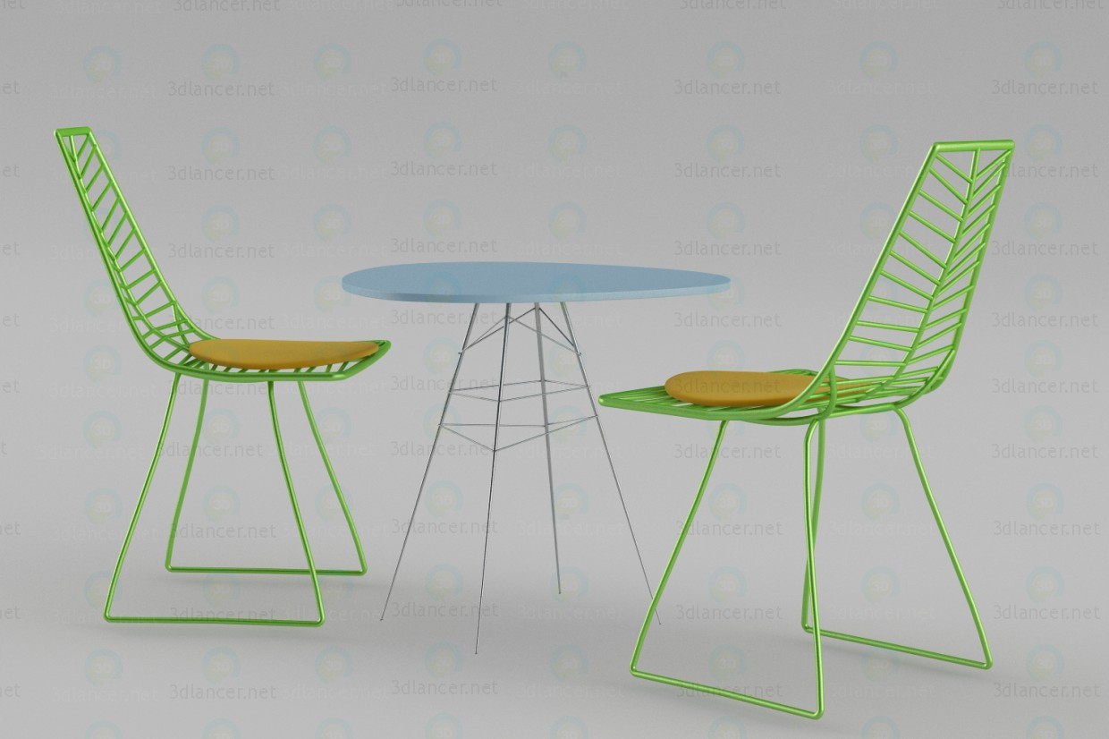 3d model Tables and chairs for the garden - preview