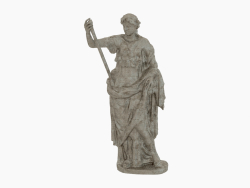 Sculpture of bronze Thalia Muse of Comedy