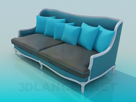 3d model Sofa in Victorian style - preview