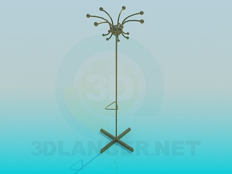 3d model Metal clothes hanger - preview