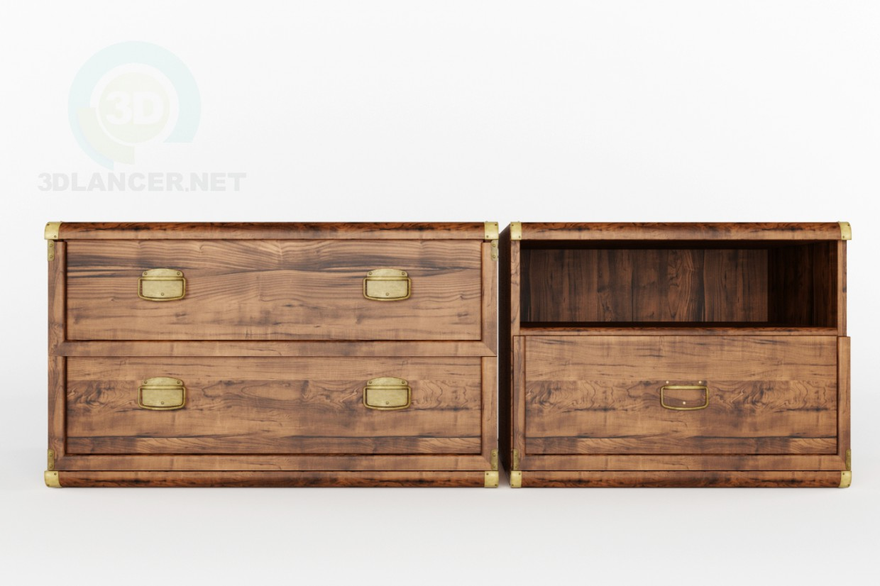 3d model Cabinets Indiana BRW - preview