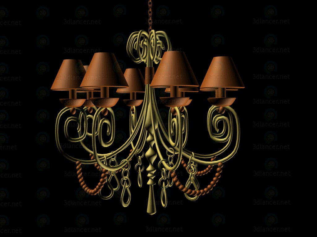 3d modeling chandelier model free download
