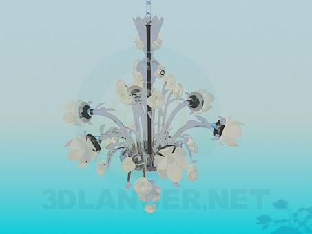 3d модель Люстра в цветках – превью