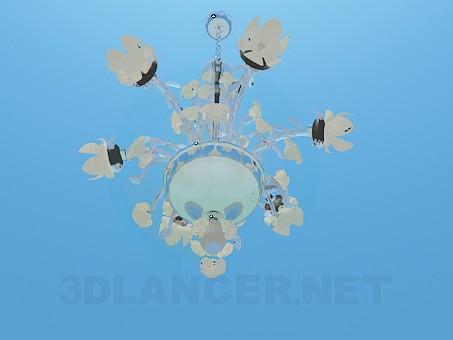 3d model Chandelier in flowers - preview
