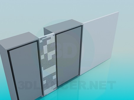 3d model Closet-wall with desk - preview