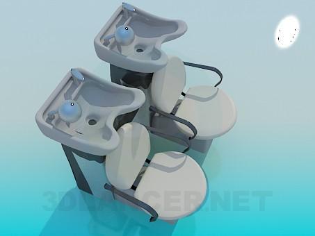 3d modeling Barber chair model free download