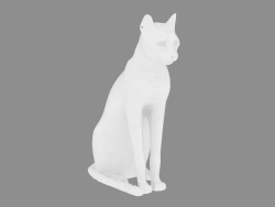 Sculpture from the marble of the Egyptian cat