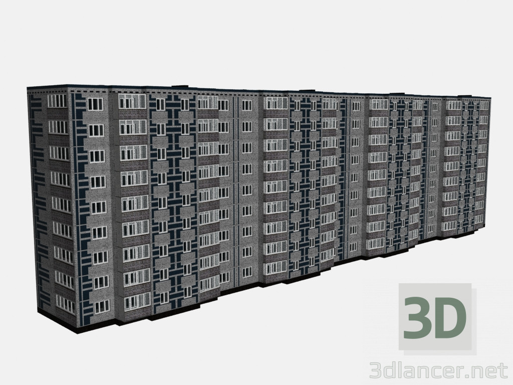 3d modeling 9-storey house model free download