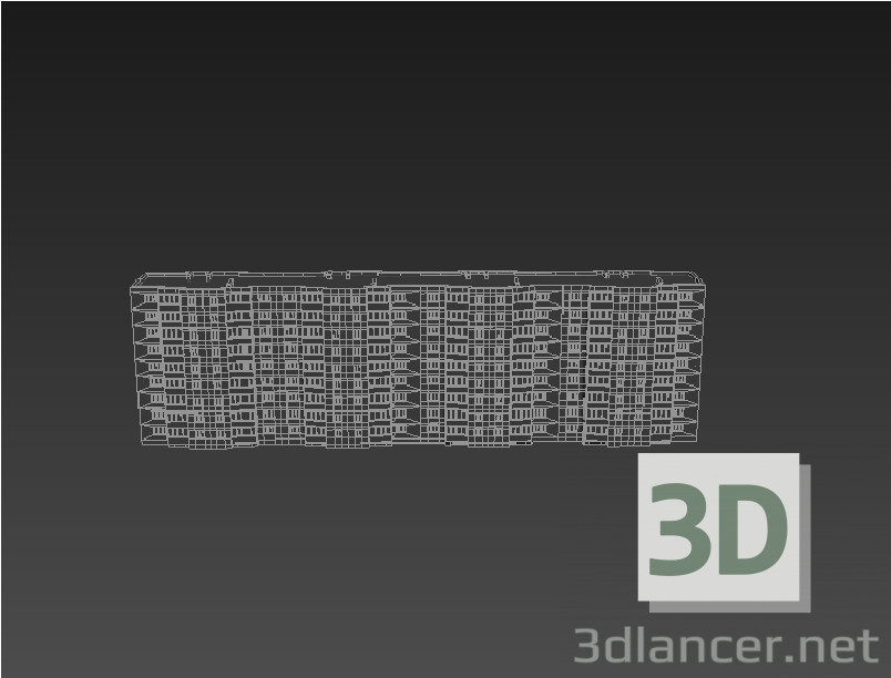 3d model 9-storey house - preview