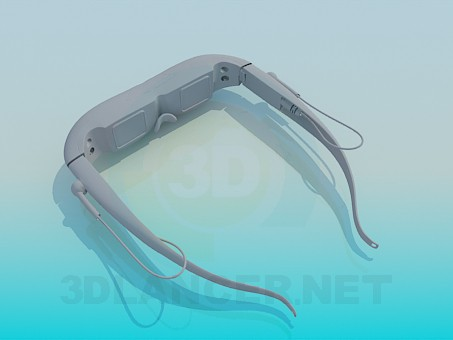 3d model Virtual reality glasses - preview