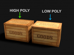 Goods Box niedrig Poly
