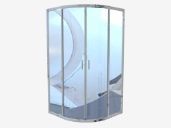 Half-round cab 90 cm, transparent glass Funkia (KYP 051K)