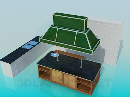 3d model Kitchen for the cafe - preview