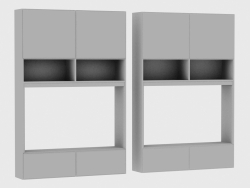 Elementos do sistema modular IANUS MIDDLE WITH BACK (S268)