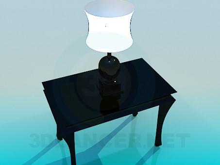 3d модель Консоль с лампой – превью