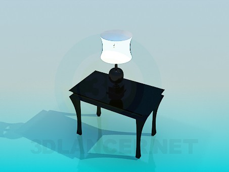 3d model Console with a lamp - preview