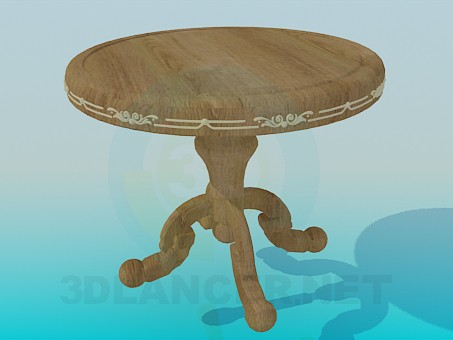 3d model Round wooden table - preview