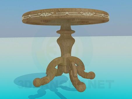 modelo 3D Mesa redonda de madera - escuchar
