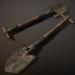 3d Old folding shovel pbr Low-poly 3D model model buy - render
