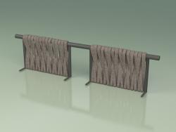 Backrest of sofa module 212 (Metal Smoke, Gray-Sand Belt)