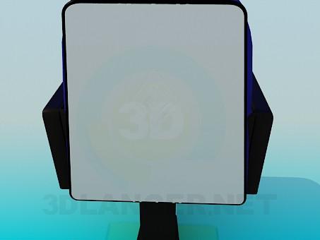 3d модель Кресло прикрепленное к полу – превью